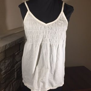 Mossimo White Tank Top Large